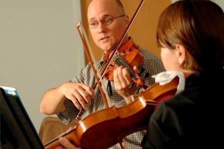 Violin music teacher